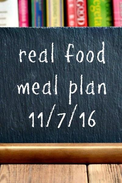 Real Food Meal Plan Week 135