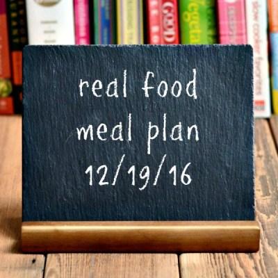 Real Food Meal Plan Week 141