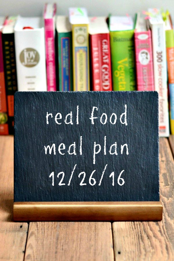 Real Food Meal Plan Week 142 includes a few feasts for Christmas and vacation week, plus a batch of homemade pasta later in the week.