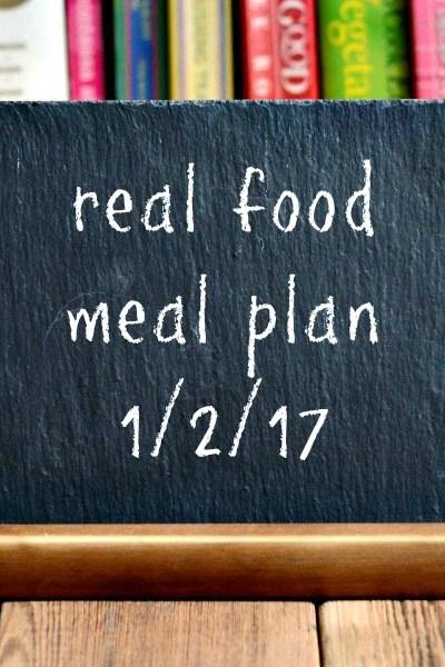 Real Food Meal Plan Week 143