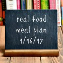 Real Food Meal Plan Week 145