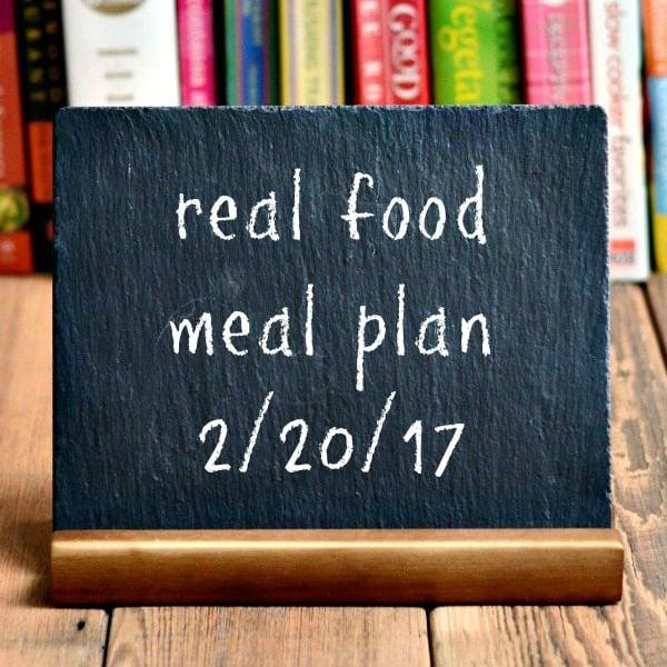 Real Food Meal Plan Week 150