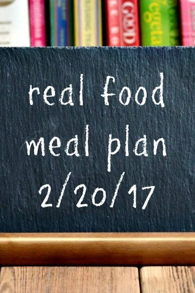Real Food Meal Plan Week 150