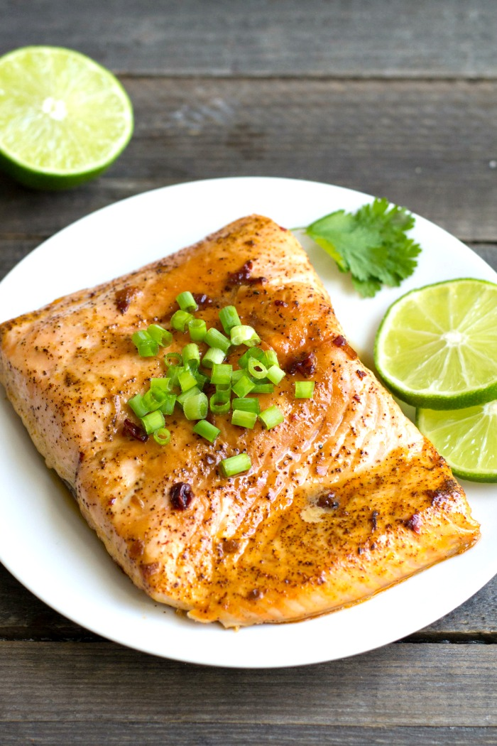 This chili lime salmon is such a delicious, healthy dinner recipe. Even a salmon skeptic will enjoy this flavorful dish. Recipe from realfoodrealdeals.com