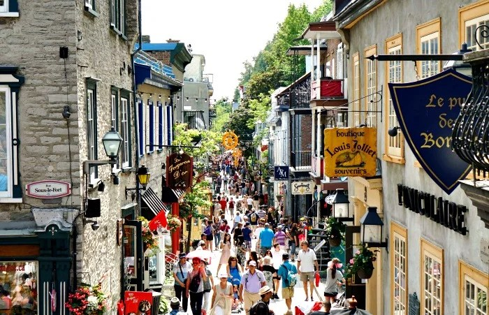 Vieux Quebec in Quebec City is so full of character!