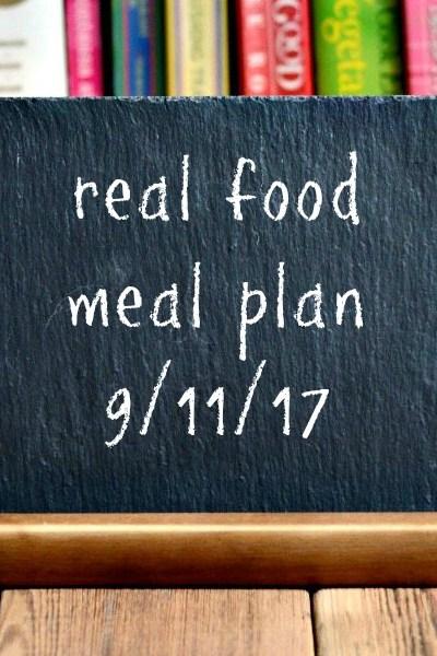 Real Food Meal Plan Week 166