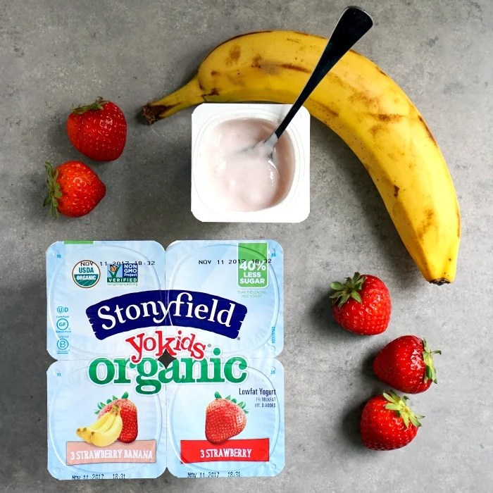 Loving the lower sugar content in Stonyfield's YoKids yogurt!