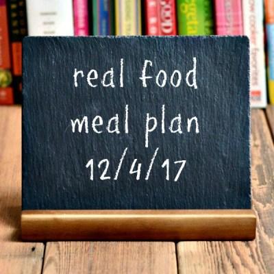 Real Food Meal Plan Week 171