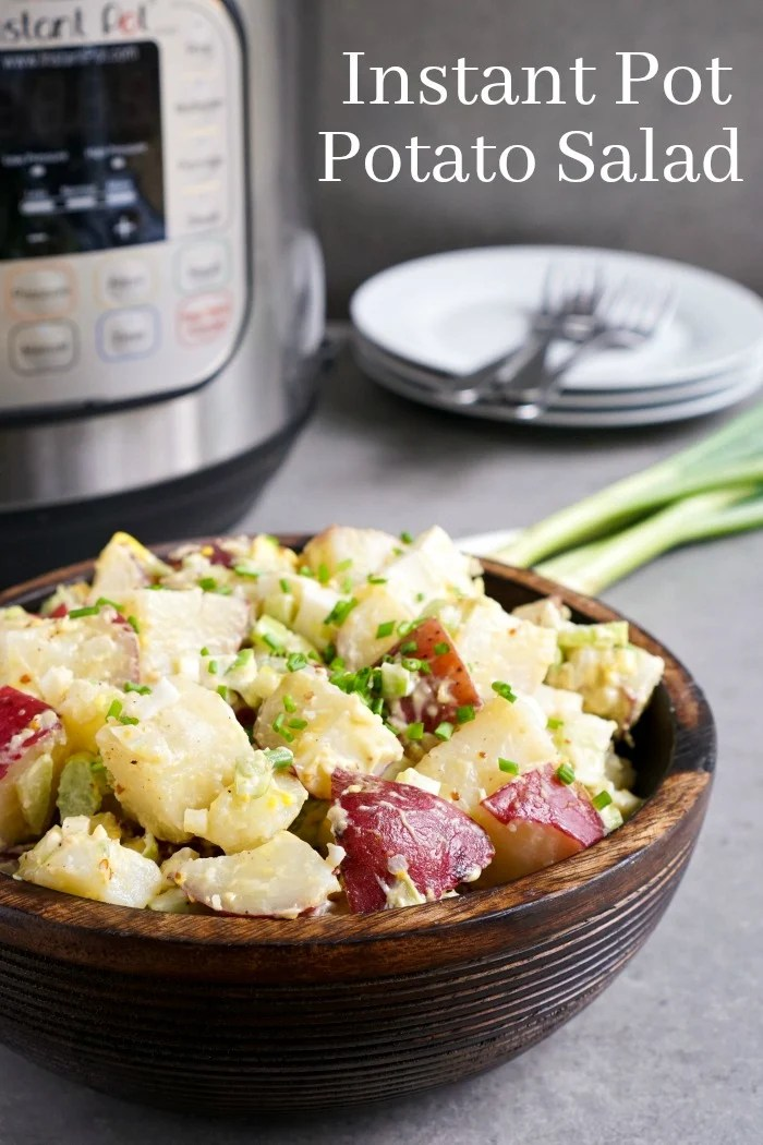 This Instant Pot Potato Salad is such a delicious side dish! This healthy recipe is so much easier to make in a pressure cooker. (gluten-free, dairy-free)