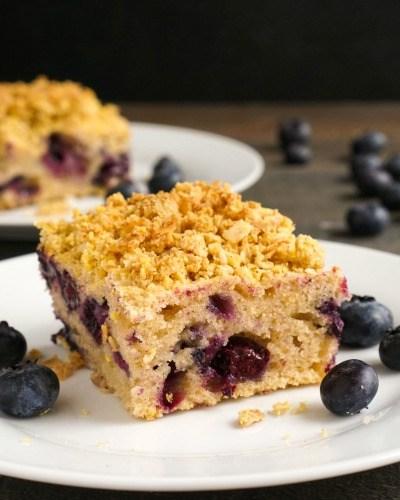Gluten Free Blueberry Crumb Cake