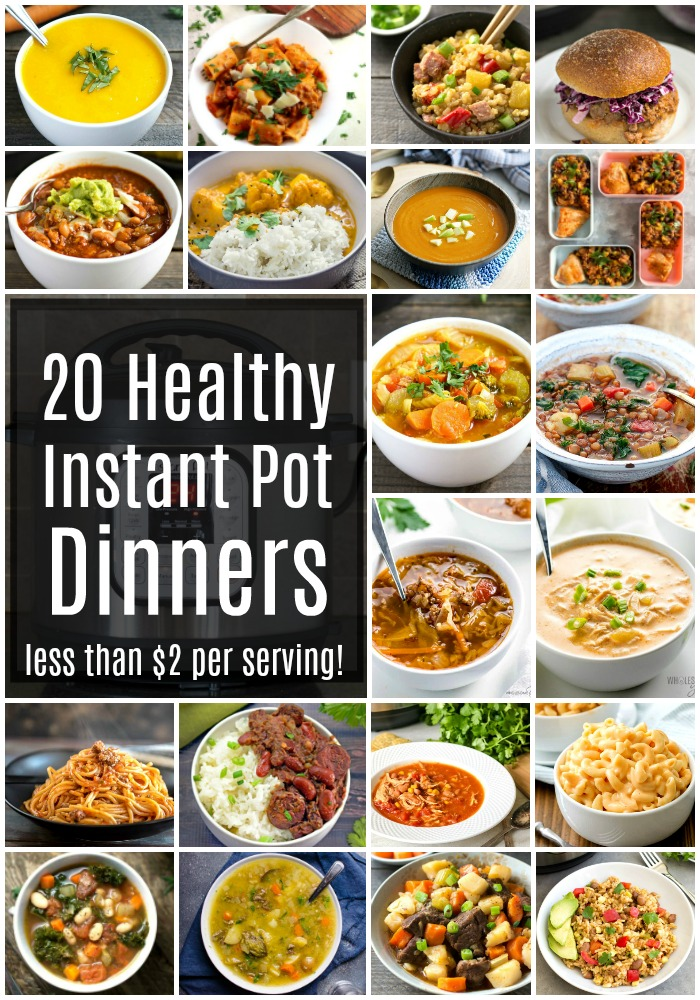 These healthy Instant Pot recipes are so easy to make for dinner on a busy night. Each of these frugal dinner recipes costs less than $2 per serving.