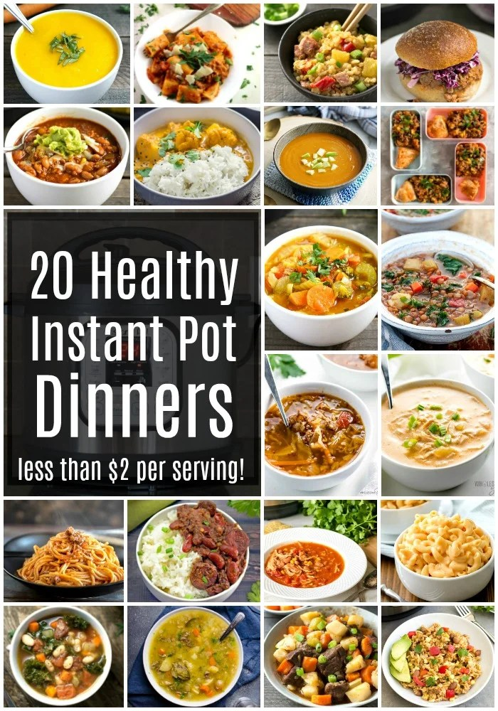 These cheap healthy Instant Pot recipes are so easy to make for dinner on a busy night. Each of these frugal dinner recipes costs less than $2 per serving.