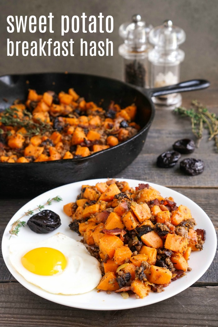 This sweet potato breakfast hash is a delicious, healthy recipe that you can enjoy any time of day. It's a hearty meal with an irresistible combination of flavors. (gluten-free, dairy-free)