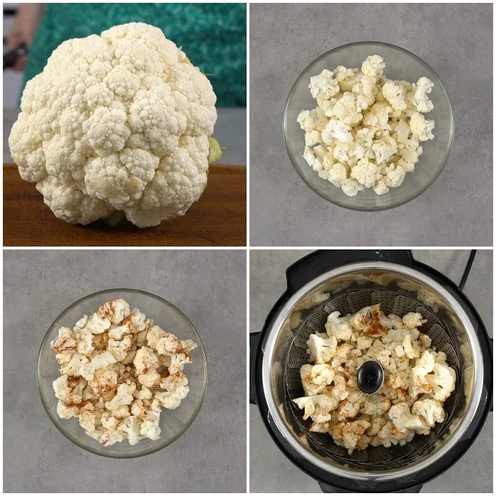 The process of making Instant Pot cauliflower couldn't be easier!