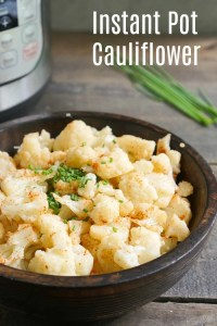 This Instant Pot cauliflower is so easy to make. It's a healthy side dish recipe, and you can't beat a zero minute cook time! (vegan, gluten-free)