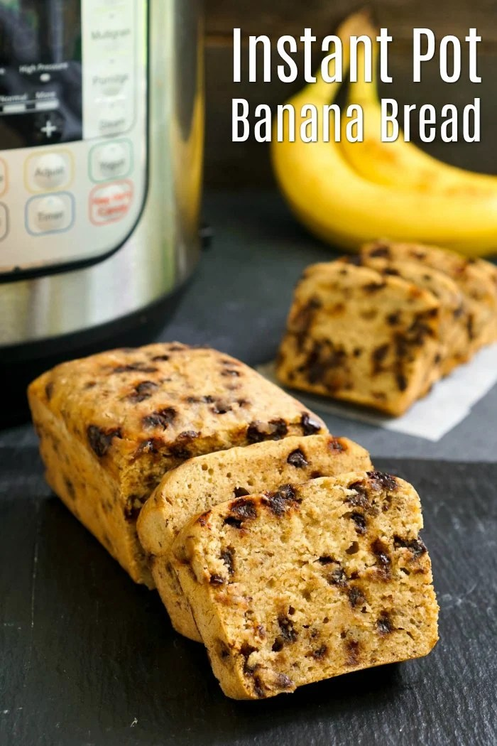 """This Instant Pot banana bread tastes just like oven-baked banana bread. Use the """"pot in pot"""" Instant Pot cooking method to get perfect gluten-free, dairy-free banana bread every time!"""