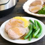 This pork tenderloin is cooked in a pressure cooker for a quick, easy dinner.