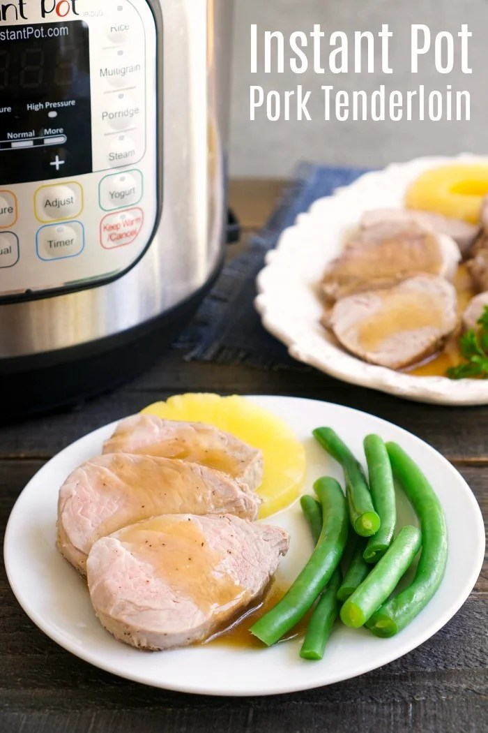 This Instant Pot pork tenderloin is such an easy dinner for a busy night. Learn how to cook pork tenderloin in a pressure cooker, and you'll have dinner on the table in 30 minutes!