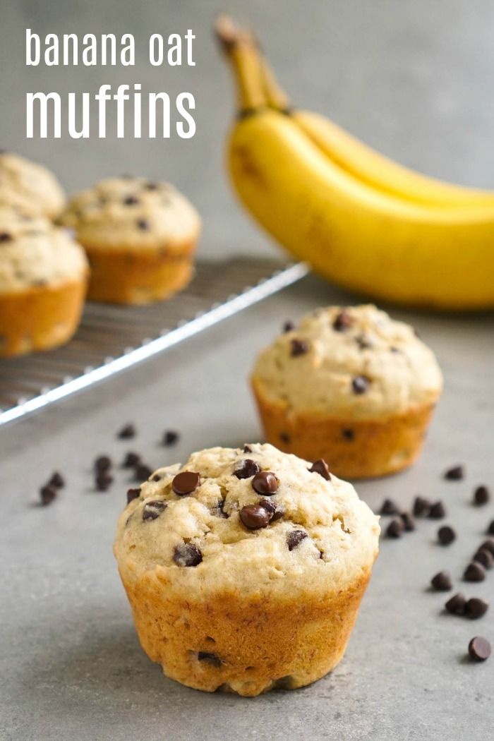 These banana oatmeal chocolate chips muffins are a delicious, healthy snack. The oats give them a hearty texture, and the chocolate chips make them taste like a treat.