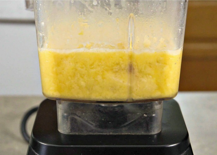 Take a shortcut and mash the banana with the other wet ingredients in a blender.