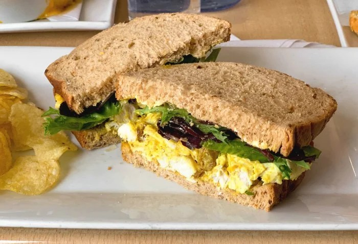 Coronation chicken is a curried chicken salad.