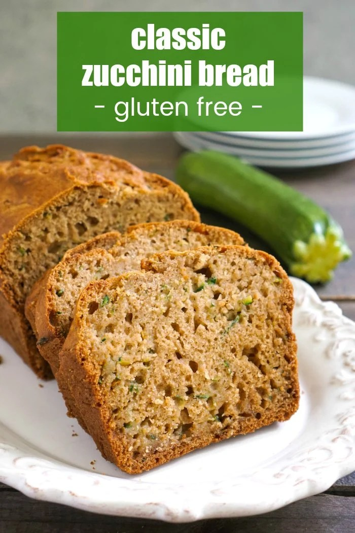 This gluten free zucchini bread is a delicious, easy snack to make.