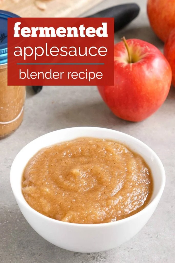 This fermented applesauce is an easy, healthy blender recipe.