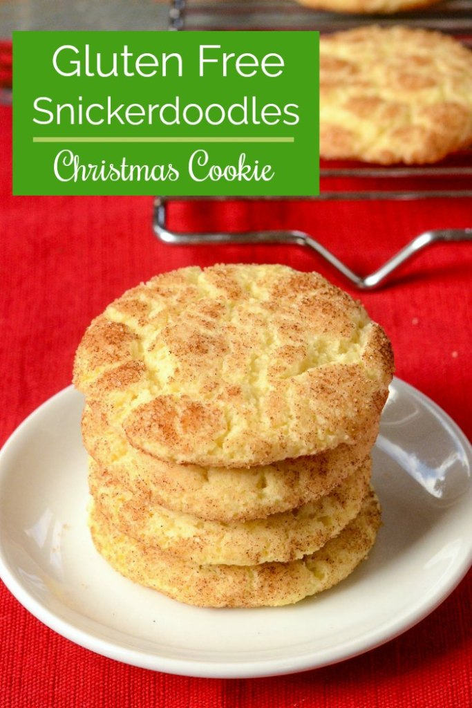 These gluten free snickerdoodles are perfect for holiday baking.