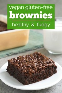Gluten-free, vegan brownies