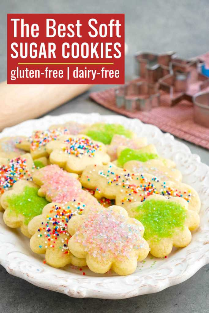 These dairy free sugar cookies are a delicious holiday dessert.
