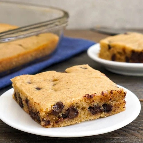 These eggless blondies are a delicious gluten-free, dairy-free dessert.