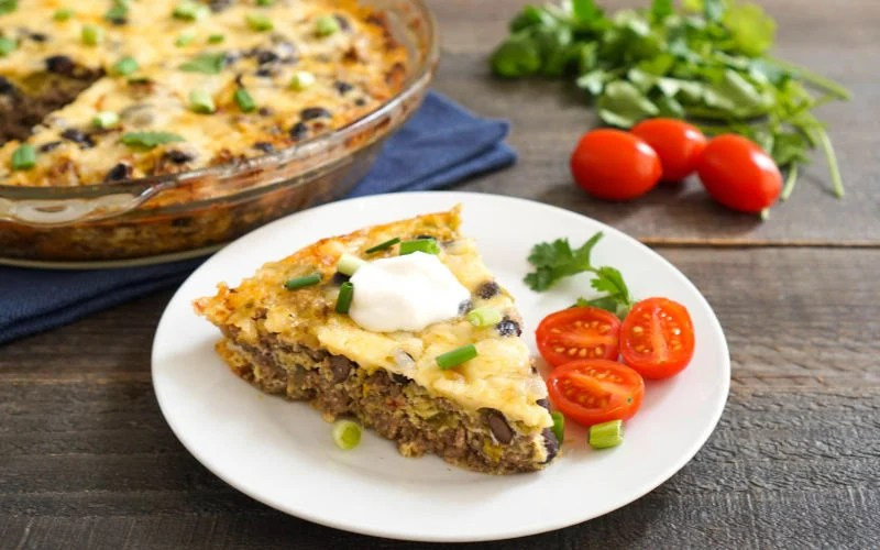 Crustless Taco Pie (Lower Carb Meal)