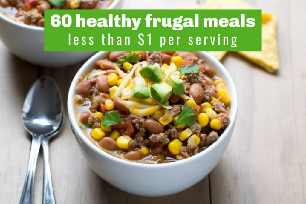 Healthy frugal meal - crock pot taco soup