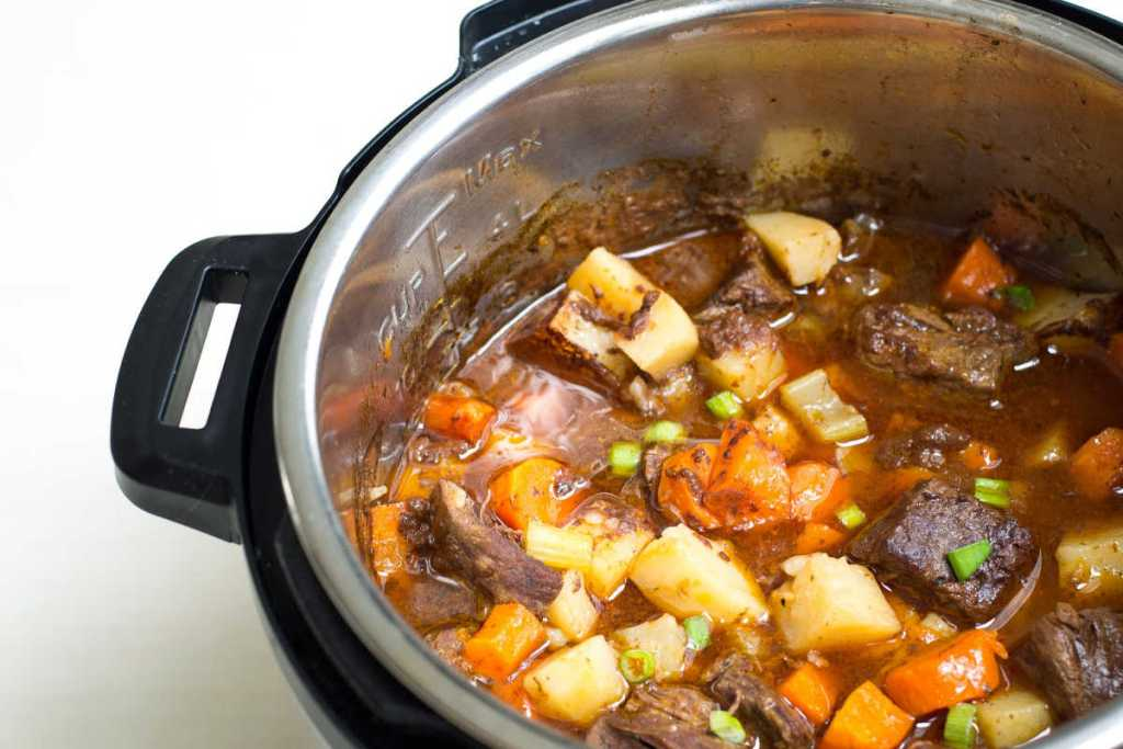 Instant Pot beef stew comes together easily in the pressure cooker