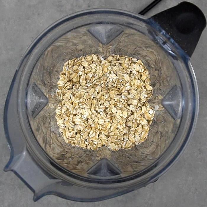 Oats in a blender to make oat flour