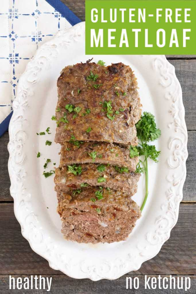 Gluten free meatloaf with parsley
