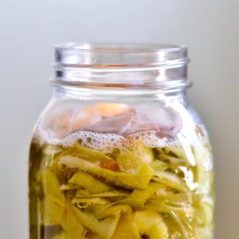 Fermentation bubbles in the jar