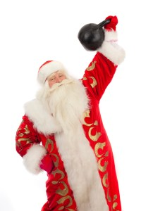 "santa-with-a-kettlebell-200x300 10 last minute ""healthy"" gift ideas!"