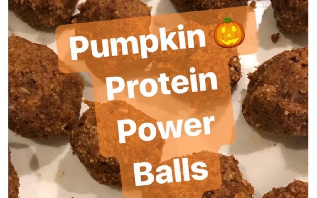 Pumpkin Protein Power Balls(Paleo,dairy-free)