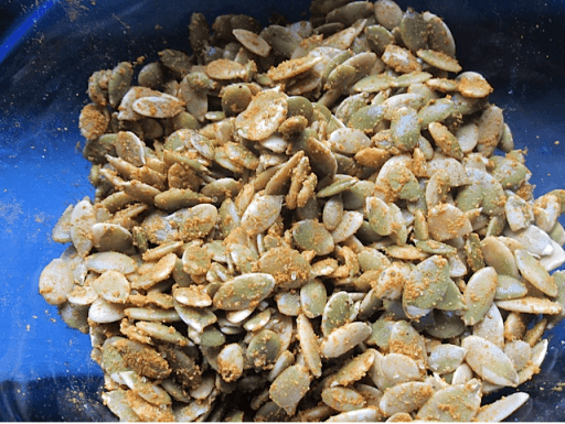 Curry Spiced Pumpkin Seeds | Real Food RN
