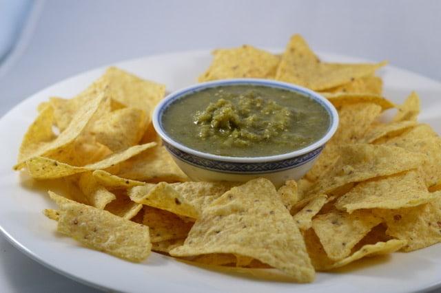 Chips and Verde Sauce | Tomatillo Salsa Verde Recipe