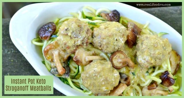 Creamy Instant Pot Stroganoff Meatballs | Real Food RN