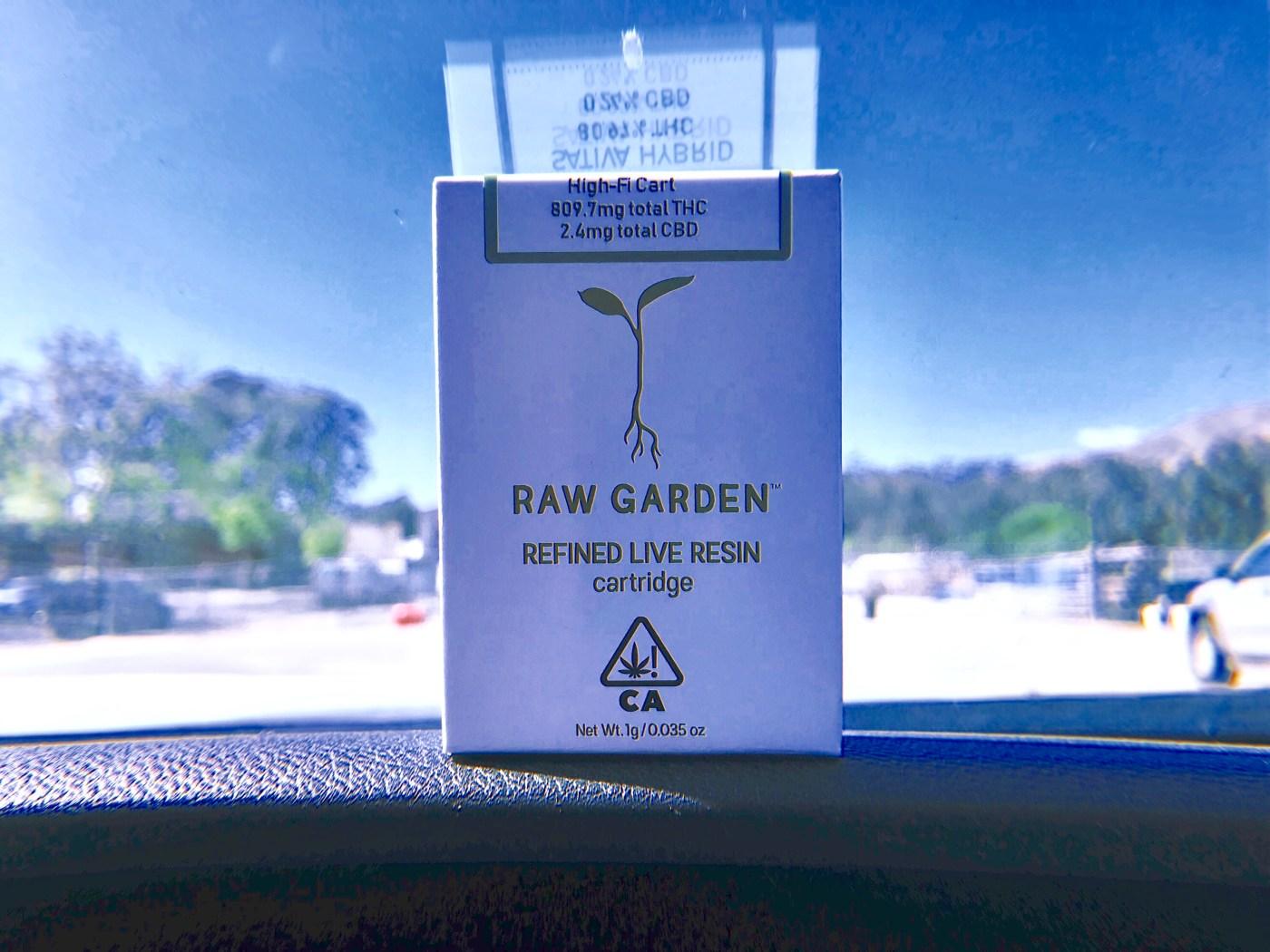 raw garden high-fi live resin cartridge