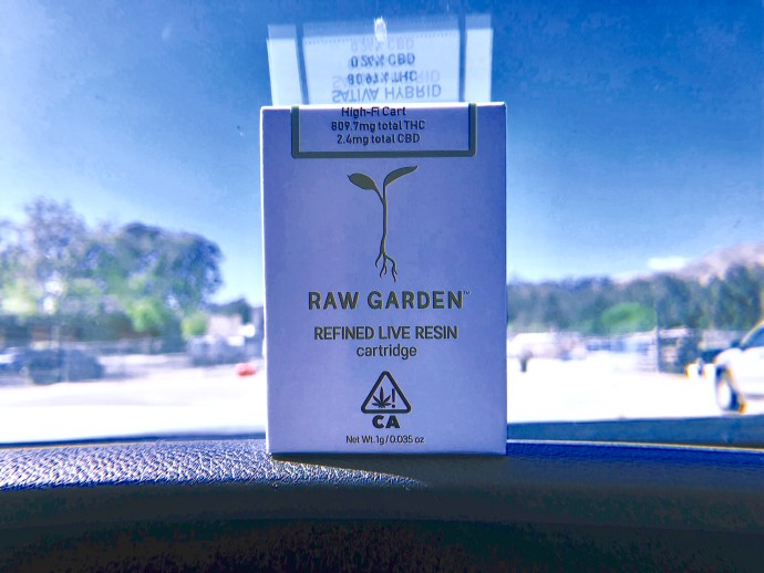 raw garden high-fi live resin cartridge