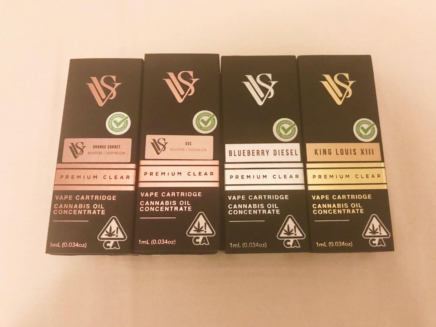 VVS premium clear vape cartridge with cannabis oil concentrate