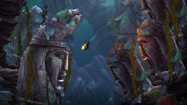 Merryn explores a lost civilization in her submarine.