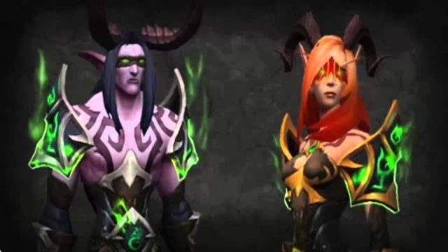 The new demon hunter classes available in the Legion expansion.