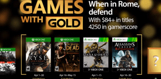 April's Games with Gold