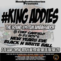 KING ADDIES AT THE NEW YEARS EVE BLACK AND WHITE BALL DEC 2015