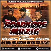 ROADKODE MUZIC AT D'VYBZ YARD BROOKLYN NEW YORK 16TH JULY 2017